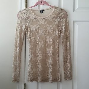 Bozzolo Lace tee. Long sleeve.  Sz S